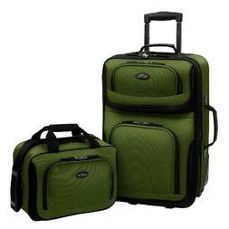 U.S. Traveler Rio 2-Piece Carry-On Luggage Set Multiple Colo