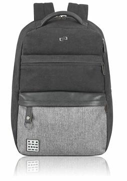 "Solo Urban Code 15.6"" Laptop Backpack, Black/Grey"