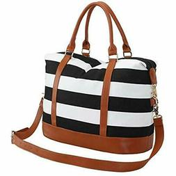 Women Weekender Bag Overnight Travel Carry-on Tote Duffle Fo